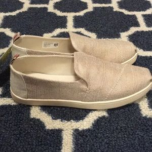 f5cc5f3e48af Toms Shoes - TOMS Rose Gold Metallic Woven Shoes